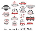 premium and quality banners set ... | Shutterstock .eps vector #149115806