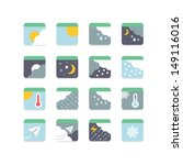 weather icon set | Shutterstock .eps vector #149116016
