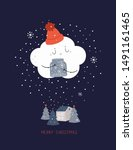 merry christmas card... | Shutterstock .eps vector #1491161465