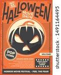 halloween movie show promo...   Shutterstock .eps vector #1491164495