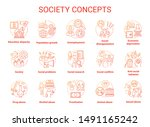 society concept icons set.... | Shutterstock .eps vector #1491165242