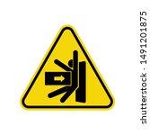 body crush sign isolated on... | Shutterstock .eps vector #1491201875