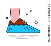 shoe covers icon. protective...   Shutterstock .eps vector #1491202592