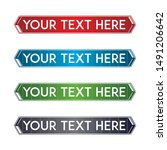 banner set  text box  title box ... | Shutterstock .eps vector #1491206642