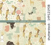 set of  artoon patterns with... | Shutterstock .eps vector #149121938