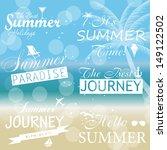 vintage summer calligraphic... | Shutterstock . vector #149122502