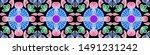 tile contrast ethnic paver tile.... | Shutterstock . vector #1491231242
