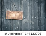 Old Sign Board Blank Hanging O...
