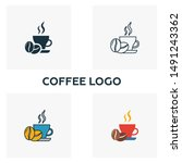 coffee logo icon. thin line...