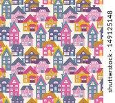 houses seamless pattern | Shutterstock .eps vector #149125148