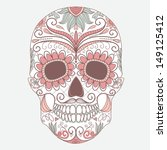 day of the dead colorful skull... | Shutterstock .eps vector #149125412