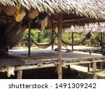 Native Indigenous Hut In The...