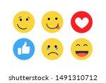 emoji feeling faces vector....   Shutterstock .eps vector #1491310712