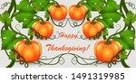 happy thanksgiving... | Shutterstock .eps vector #1491319985