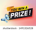 you win prize word concept... | Shutterstock .eps vector #1491326528