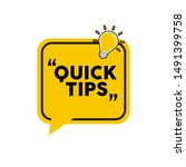quick tip   emblem  label ... | Shutterstock .eps vector #1491399758