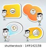 figures with bubbles speech | Shutterstock .eps vector #149142158