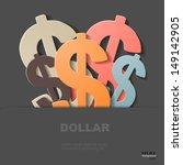 dollars  eps 10 | Shutterstock .eps vector #149142905