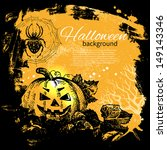halloween background. hand... | Shutterstock .eps vector #149143346