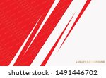 abstract red and white... | Shutterstock .eps vector #1491446702