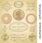 set of vintage labels. coffee.... | Shutterstock .eps vector #149144726
