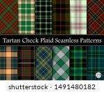 set tartan plaid scottish... | Shutterstock .eps vector #1491480182