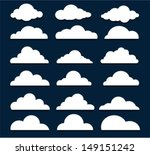 vector design elements. clouds. | Shutterstock .eps vector #149151242