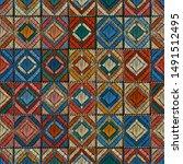 embroidered carpet seamless...   Shutterstock .eps vector #1491512495