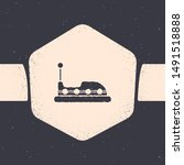 Grunge Bumper Car Icon Isolated ...