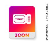 white ticket icon isolated on... | Shutterstock .eps vector #1491535868
