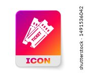 white ticket icon isolated on... | Shutterstock .eps vector #1491536042