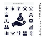 business icon sets  set of... | Shutterstock .eps vector #1491621215