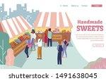 flat landing page offering big... | Shutterstock .eps vector #1491638045