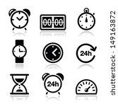 time  clock vector icons set   Shutterstock .eps vector #149163872