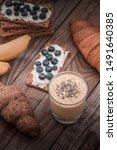 tasty croissants breakfast... | Shutterstock . vector #1491640385