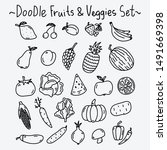 doodle hand drawn collection of ... | Shutterstock .eps vector #1491669398