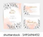 wedding invitation templates.... | Shutterstock .eps vector #1491696452