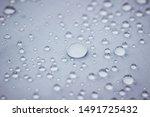 Water Drops On Water Repellent...