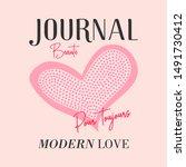 journal modern love dot heart... | Shutterstock .eps vector #1491730412