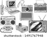 retro household item... | Shutterstock .eps vector #1491767948