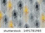 Gray Textured Background  Gold  ...