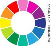 an abstract colour wheel image | Shutterstock .eps vector #1491784802