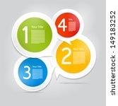 one  two  three  four  colorful ... | Shutterstock .eps vector #149183252
