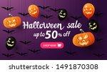 halloween sale  up to 50  off ... | Shutterstock .eps vector #1491870308