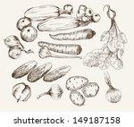 vegetables. ingredients for... | Shutterstock .eps vector #149187158