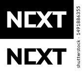 next logo black and white