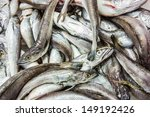 a lot of fishes on ice at the... | Shutterstock . vector #149192426