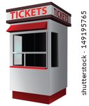 Ticket Booth For The Sale Of...