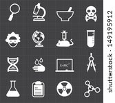 science education icons and... | Shutterstock .eps vector #149195912