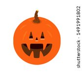 vetor october pumpkin halloween ... | Shutterstock .eps vector #1491991802